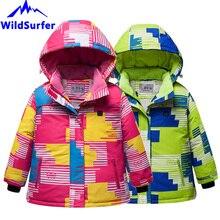 цена на USB Heating Children Skiing Jackets Winter Boys Girls Windproof Warm Snow Ski Jackets Child Snowboard Suits W305