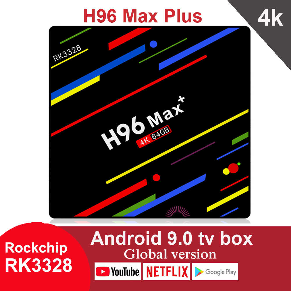 H96 Max Plus Smart Android 9.0 TV Box 4GB 32GB 64GB RK3328 lecteur multimédia 4K Google Assistant vocal Netflix Youtube H96MAX 2GB16GB