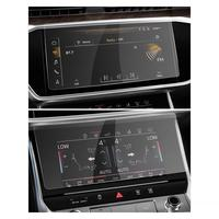 RUIYA 2pcs screen protector for Audi A6 A7 2019 2020 car multimedia system touch screen,9H tempered glass screen protection film