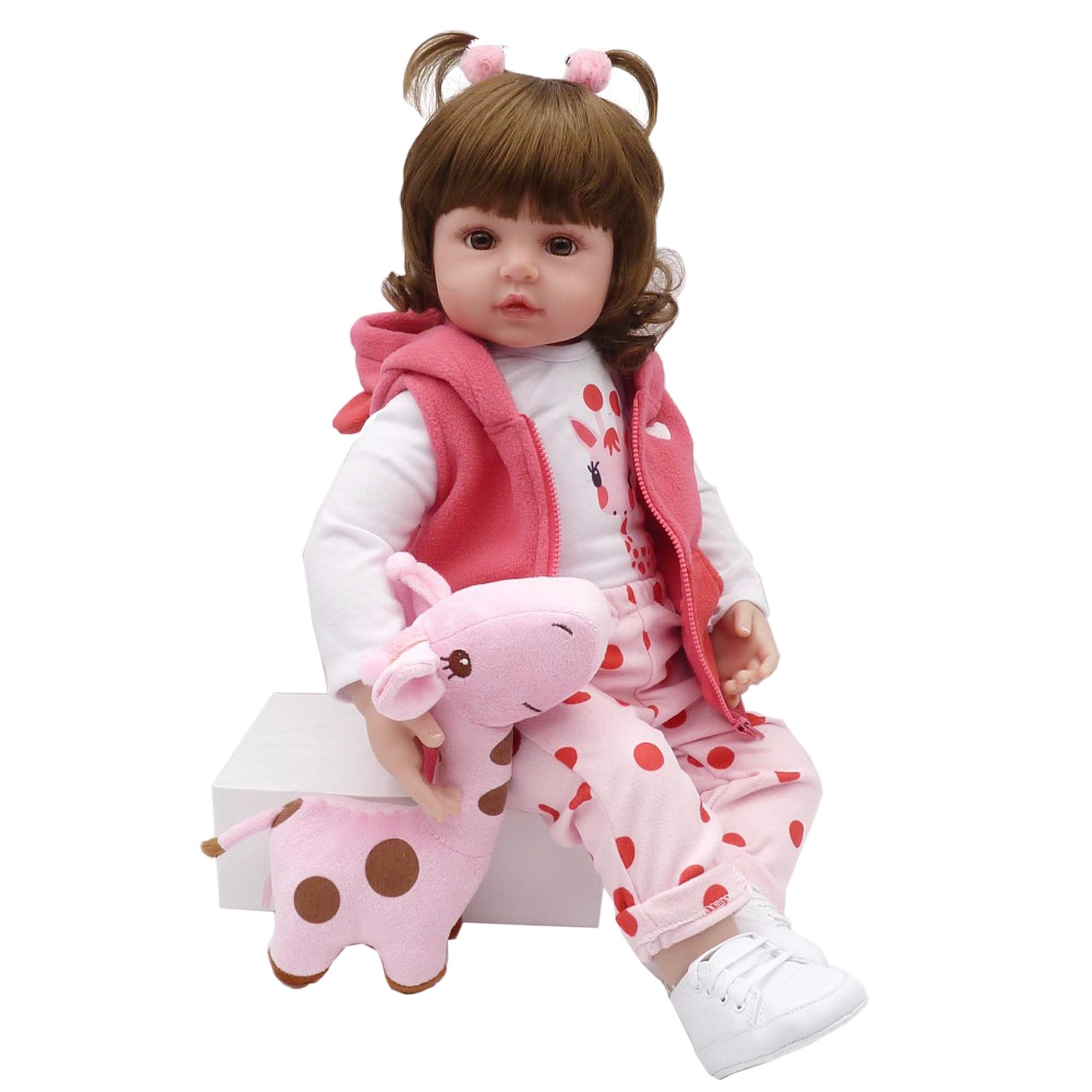 60cm Soft Silicone Reborn Baby Doll Toys Like Real Bebe Princess Toddler Birthday Gift Fashion Birthday Present Girls Bonecas