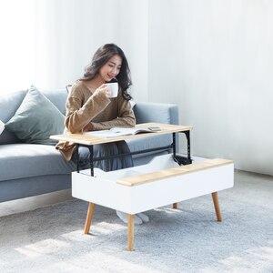 ZEN'S BAMBOO Lift Top stolik kawowy ukryta szuflada meble do salonu