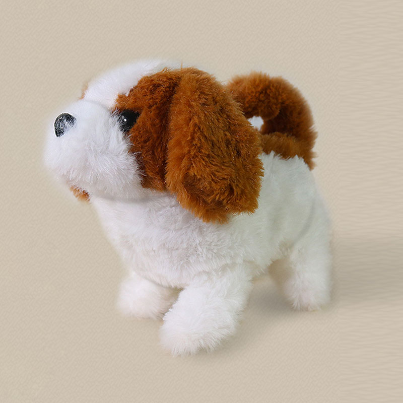 Купить с кэшбэком Robot Dog Electronic Dog Plush Puppy Jump Wag Tail Leash Teddy Toys Walk Bark Funny Toys For Children Birthday Gift