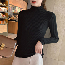 Casual Women Sweaters Autumn Long-sleeved Pullover Fashion Turtleneck Sweater