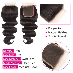 Image 3 - Beauty Forever Peruvian Body Wave Hair 3 Bundles With Lace Closure 100% Remy Human Hair With 4*4 Silk Base Closure