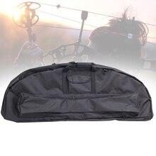 Bileşik yay çantası tuval ayarlanabilir kayış su geçirmez açık depolama fermuar okçuluk taşıma çantası taşıyıcı profesyonel tutucu siyah