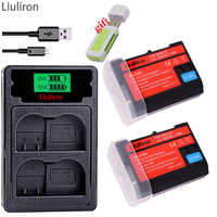 Batería de cámara EN-EL15 ENEL15 EN EL15 EL15A para Nikon D500, D600, D610, D750, D7000, d7100... D7200... D800... D850... D810... D810A y 1 V1 de L15
