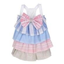 Весенне-летняя юбка-торт с бантом, платье, костюмы для собак, одежда для домашних животных, одежда для собак, юбка-торт для маленьких собак