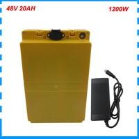 1000W 48V 20AH li-ion battery pack 750W 48Volt 16AH 18AH e scooter bateria akku 48 V ebike batteries with 30A BMS 2A Charger