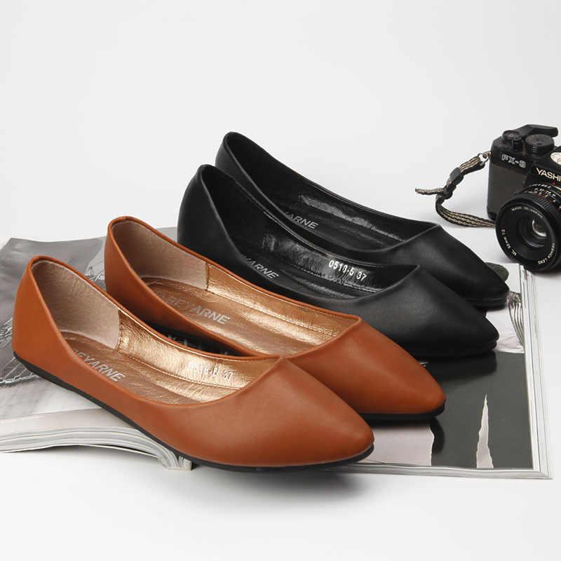 33 43 Women Basic Shoes Soft Pu Leather