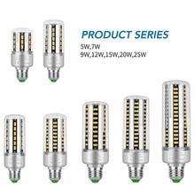 E27 Led Bulb 25W Corn Lights E14 LED Lampada AC 85-265V Indoor Lighting LED 220V Lamp Bulb SMD 5736 Downlight Super Bright Light