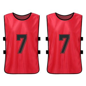 Image 5 - 12 PCS Sports Vest Kids Football Pinnies Quick Drying Soccer Jerseys Youth Sports Scrimmage Training Numbered Bibs Practice