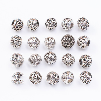 10pcs 20pcs Mixed Tibetan Antique Round Loose Beads Spacer Beads Connectors for DIY Jewelry Making Findings Wholesale handmade 925 silver om beads jewelry findings tibetan om mani padme hum words beads om mantra beads tibetan jewelry beads