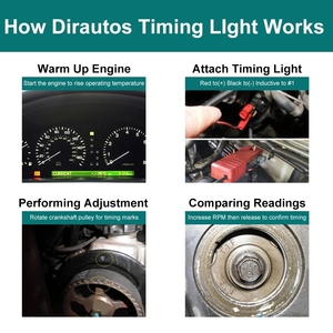Image 2 - Car Motorcycle 12V Ignition Timing Light Strobe Lamp Inductive Petrol Automotive Scanner Engine Timing Gun Auto Diagnostic Tool