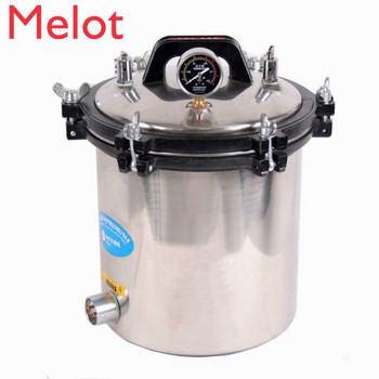 hot sale 18 Liter Steam Autoclave Bacteria Incinerator Stainless Steel Pressure Steam Sterilizer shanghai three shen shanghai shenan medical autoclave sterilization pressure steam sterilizer pressure gauge