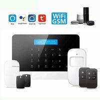 Casa inteligente gsm/wifi alarme tuya sistema de segurança 433 mhz alarme acessórios vida inteligente aplicativo funciona amazon alexa/google casa/ifttt Automação predial     -