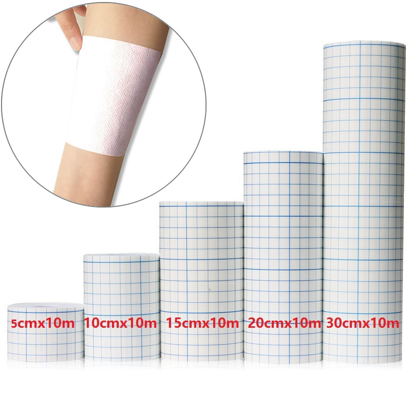 10m 5-30cm Wound Dressing Tape Non-woven Breathable Fixing Medical Plaster Sticker Outdoor Sports Wound Treatment First Aid Kit