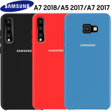 SAMSUNG A5 2017 Case Original Official Soft Silicone Cover Samsung Galaxy A3 A5 A7 2017 A6 A8 plus A7 A9 2018 Shockproof Case чехол fifa 2018 official logotype для samsung a5