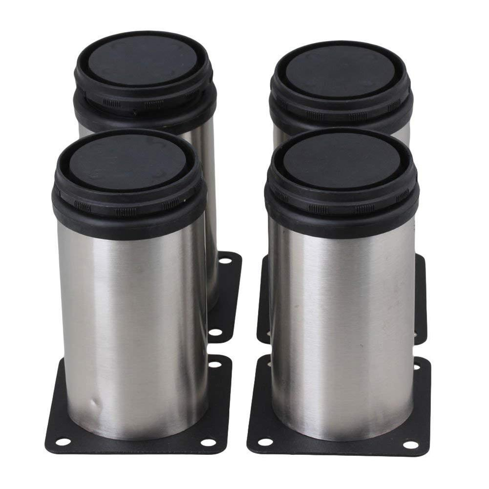 4PCS Furniture Leg Stainless Steel Adjustable Cabinet Round Foot Furniture Accessories