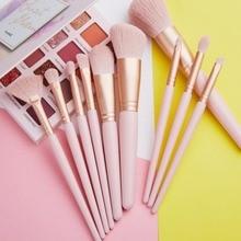 10Pcs Makeup Brushes Set Powder Lip Cosmetic Beauty Make Up Brushes Tool Foundation Brush Blush Blending Eyeshadow Brush недорого