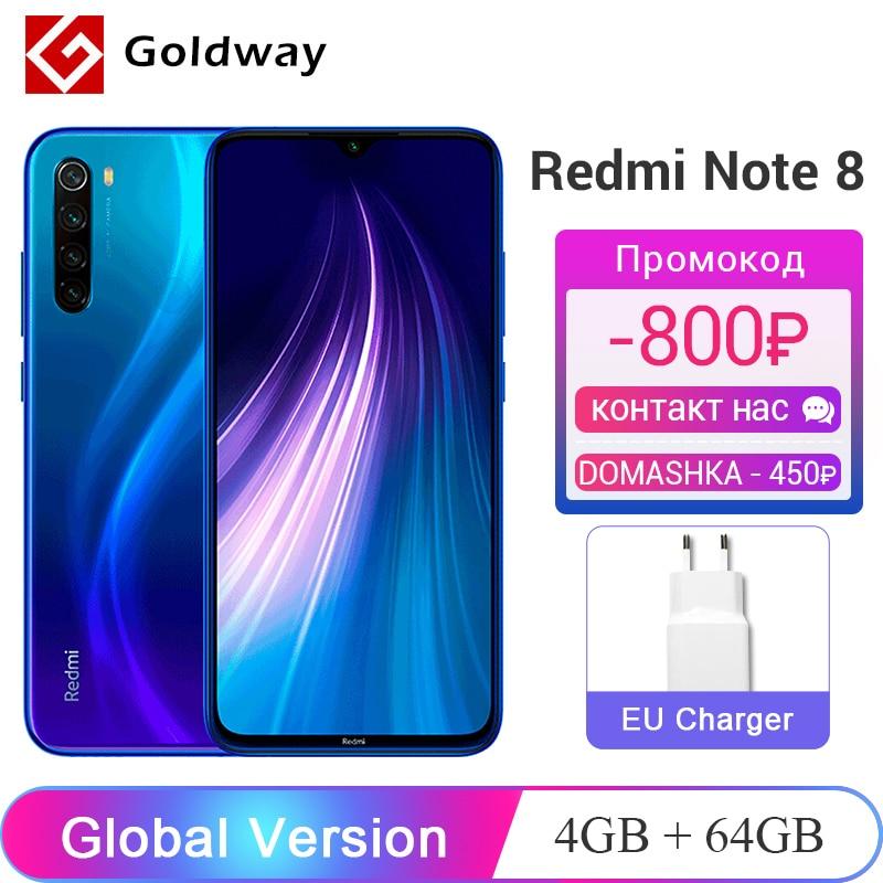 """Global Version Xiaomi Redmi Note 8 4GB 64GB Smartphone Snapdragon 665 Octa Core 48MP Quad Rear Camera 4000mAh 6.3"""" FHD+ Screen(Hong Kong,China)"""