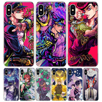 JoJo Bizarre Adventure Anime Phone Case For Apple IPhone 11 12 Pro Mini XR X XS Max 7 8 6 6S Plus + 7G 6G 5 SE 2020 Luxury Patte image