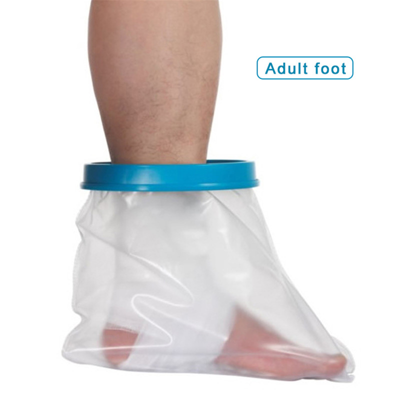 Купить с кэшбэком Waterproof Adult Sealed Cast Bandage Protector Wound Fracture Foot Leg Knee Arm Cover for Shower Bath Injury Long Leg