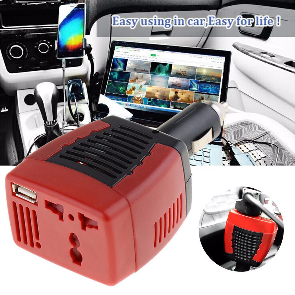 Inversor de potência do carro usb 2.1a 150w dc 12v ac 220v conversor adaptador portátil carregamento conversor tensão carregador usb