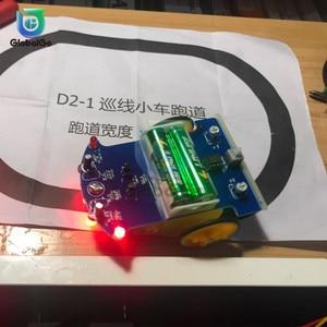 Image 5 - D2 1 DIY Kit Intelligent Tracking Line Smart Car Kit TT Motor Electronic DIY Kit Smart Patrol Automobile Parts For Baby