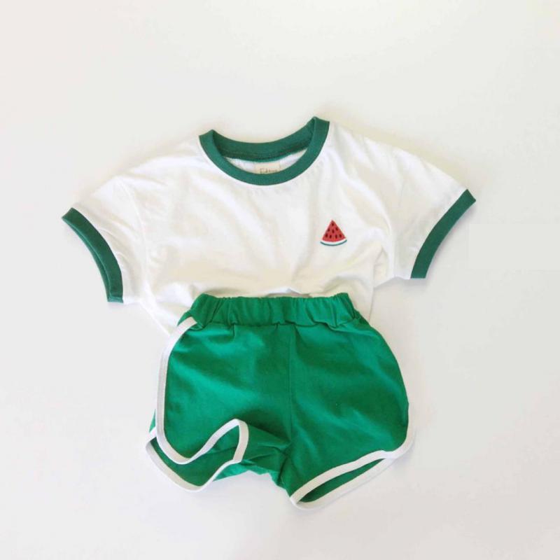 + shorts calças outfits 2pcs verão bebê conjunto