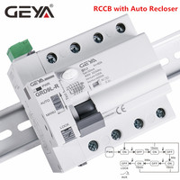 GEYA GRD9L 6KA FI-SCHUTZSCHALTER FI-SCHUTZSCHALTER 4 Pol Automatische Reclosing Gerät Fernbedienung Circuit Breaker Selbst Wieder RCD