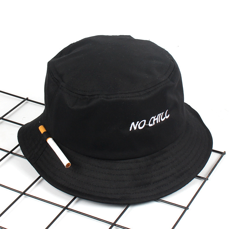 Cigarette Embroidery Bucket Hat For Men Women Hip Hop Fisherman Hat Adult Panama Bob Hat Summer Lovers Flat Hat