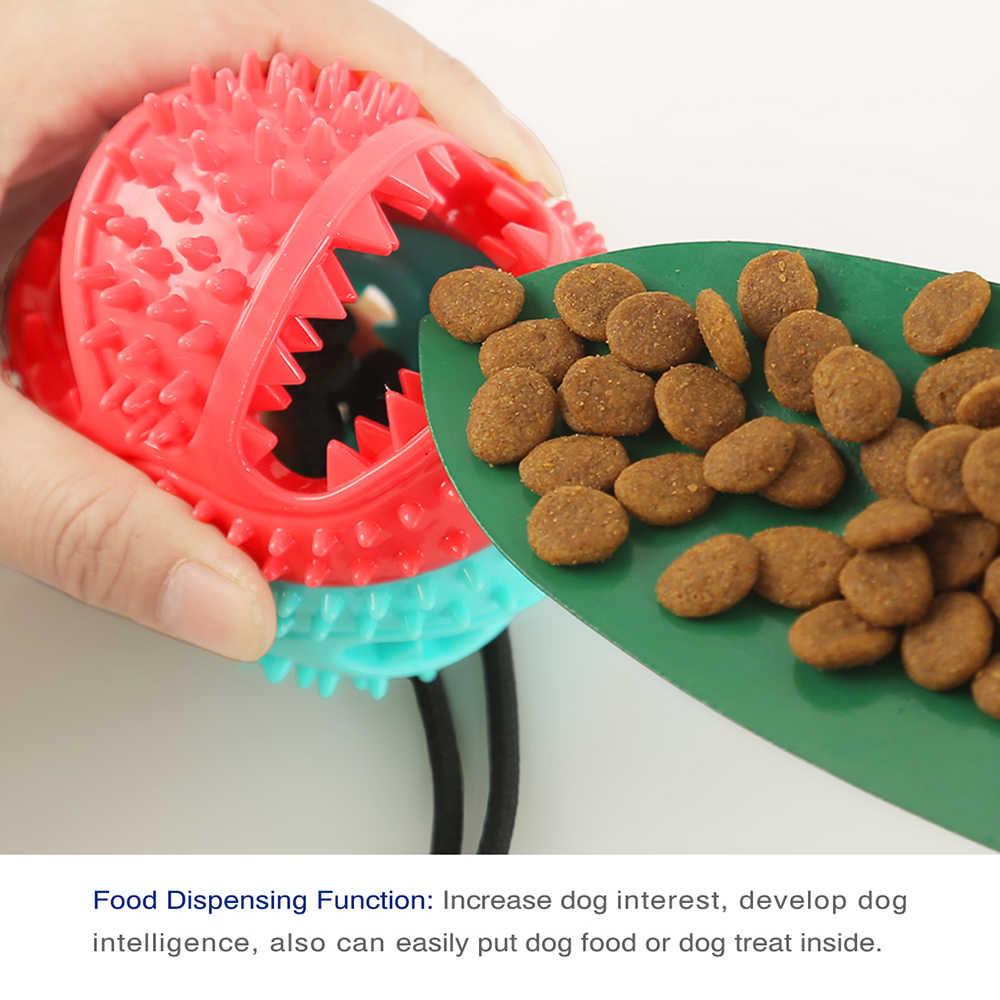 Molar Bite interaktywna zabawka dla psa z wytrzymałą liną i przyssawką do ciągnięcia/żucia/czyszczenie zębów Self Playing Tog dla psów