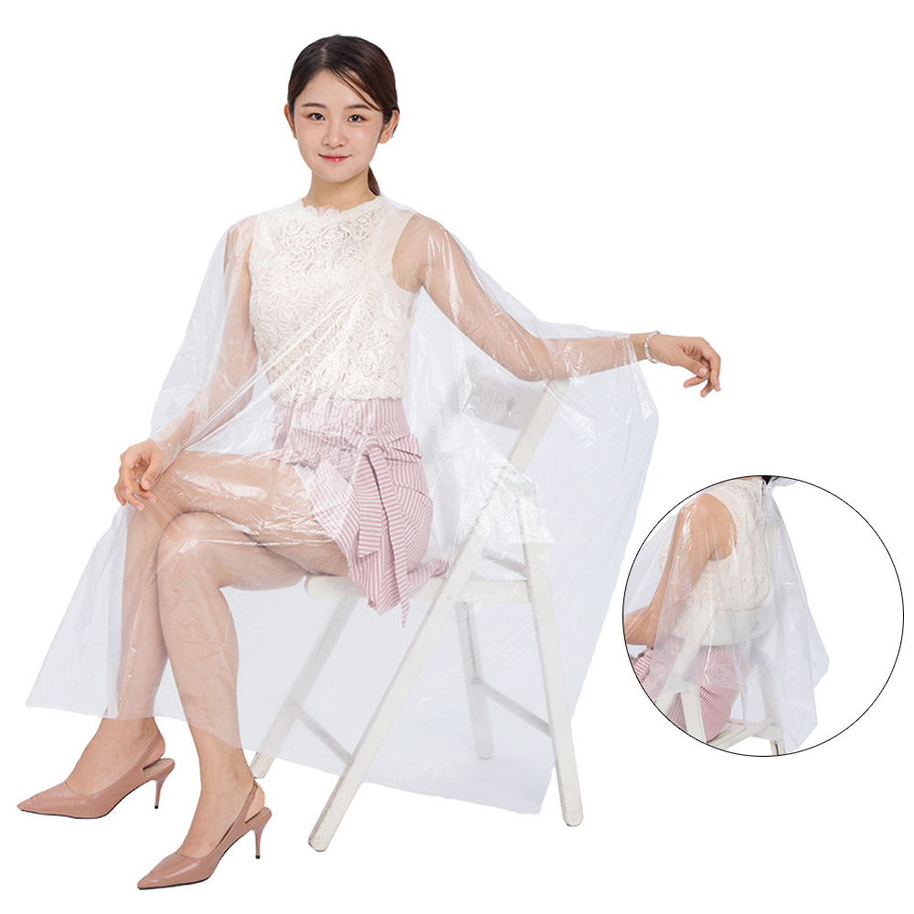 20/50/100 Pcs Disposable Hairdressing Capes Waterproof Cloth Gown Barber Cape Hair Cutting Apron Transparent Hairdressing Cloth