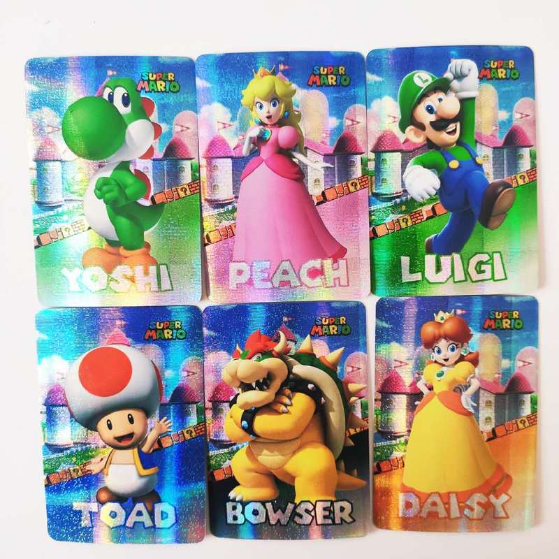 12pcs/set Mario Toys Hobbies Hobby Collectibles Game Collection Anime Cards  Free Shipping