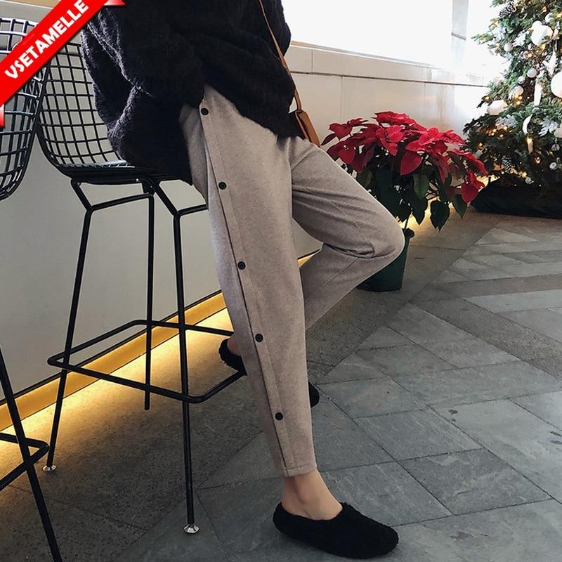 Pregnant Blend Leggings Casual Harem Maternity High Waist Trousers Nursing Adjustable Belly Women Sportswear Pants