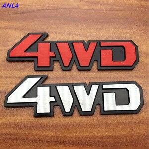 1 шт. алюминиевая палка на полированный хром 4WD 4X4 наклейка на крыло автомобиля эмблема отделка значок Логотип 3D металлическая наклейка для г...