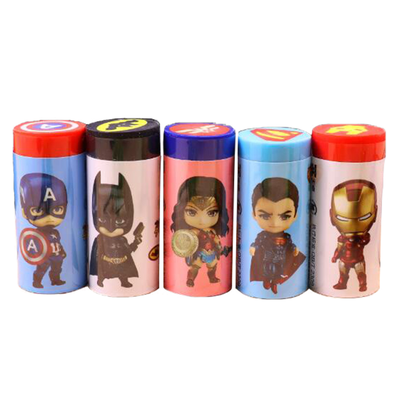 4pcs New Hero Union Rubber Pencil Eraser Correction Tool Eraser With Cartoon Design Promotion Students School Stationery Eraser