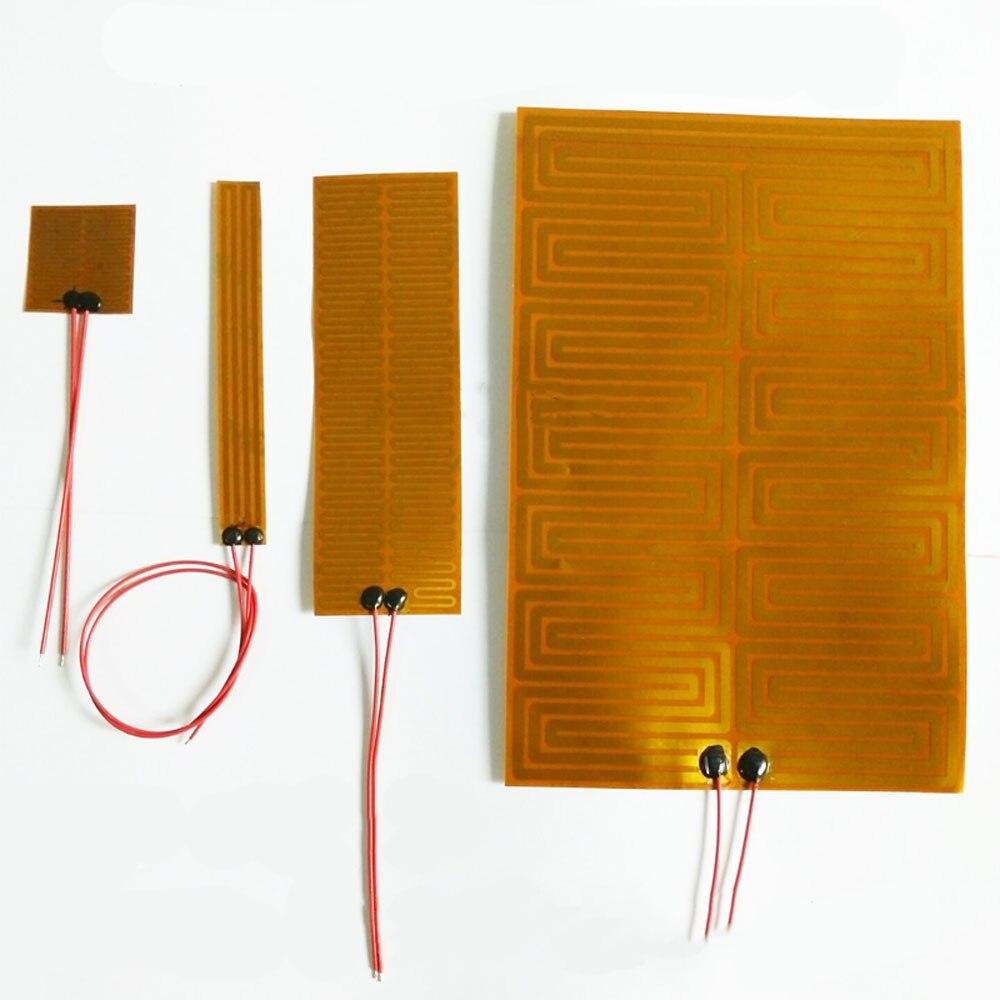 14-300 мм 12V 24V Eeletric PI Полиимидная Пленка нагреватель нагревательный элемент для 3D-принтеры масляный бак автомобиля размораживание запотевани...