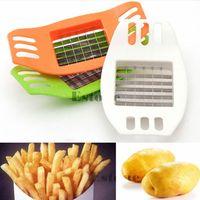 Kartoffeln Cutter Cut in Streifen Französisch Frites Slicer Werkzeug Küche Gadgets Zufällige-in Manuelle Pommes-frites-Schneider aus Heim und Garten bei