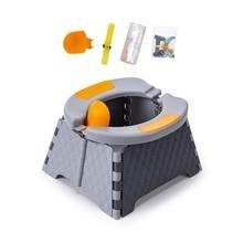 Baby Potty Training Seat Kids Toddler Outdoor Portable Folding Toilet Urinal Pot 97BD