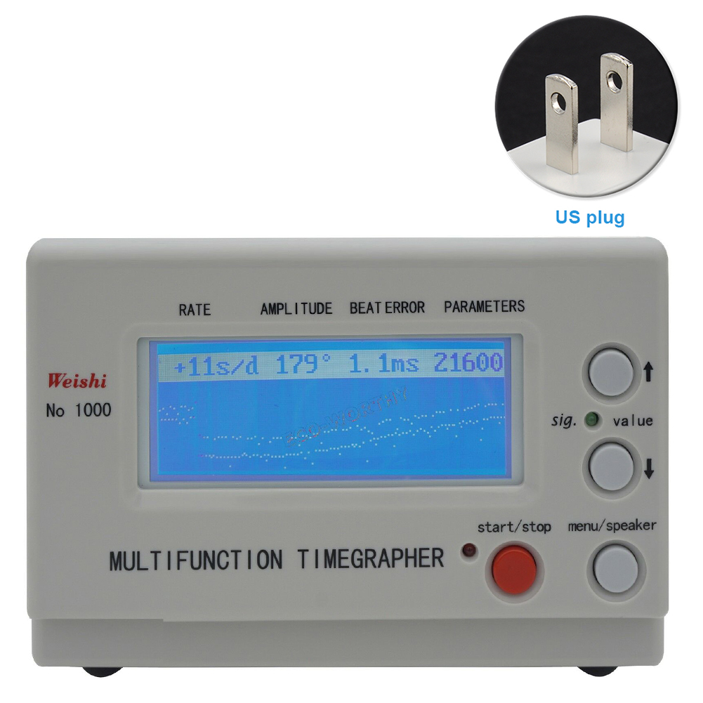 MTG 1000 Watch Timegrapher Mechanical Watch And Pocket Tester Watch Timing Machine Calibration Tool  Repairers Hobbyists Repair