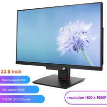 Tudo-em-um desktop computador tela led com microfone câmera i7-3520M built-in unidade óptica 23.8 polegadas 100-240v para casa, escola