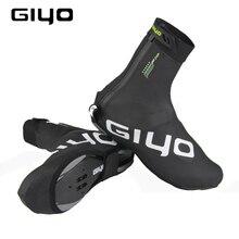Protetor de sapatos para ciclismo à prova de vento, capas quentes de lã para sapatos de ciclismo com trava refletiva para inverno e estrada