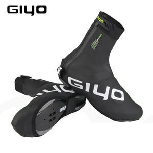 Image 1 - Protetor de sapatos para ciclismo à prova de vento, capas quentes de lã para sapatos de ciclismo com trava refletiva para inverno e estrada