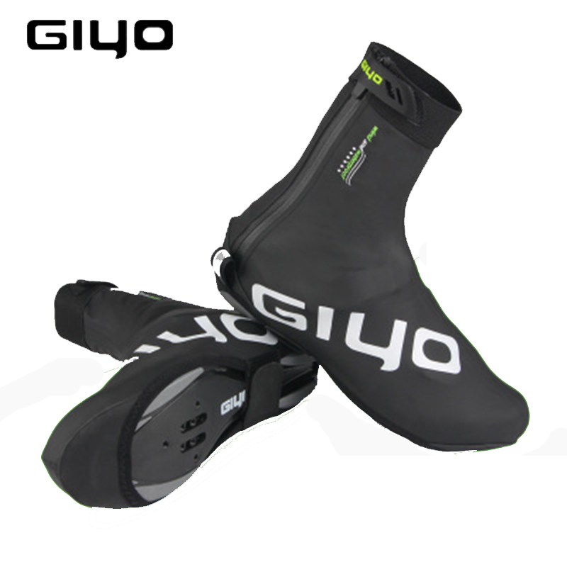 Waterproof Windproof Fleece Warm Cycling Lock Shoe Covers Reflective Bicycle Overshoes Winter Road Bike Shoes Cover Protector(China)