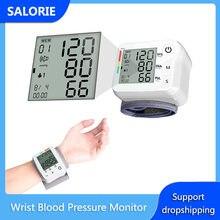 LCD dijital kol kan basıncı monitörü taşınabilir üst tonometre darbe ölçüm aracı + bilek manşet yaşlı yetişkin çocuklar sağlık
