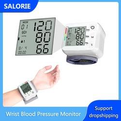 LCD Digital Arm Blood Pressure Monitor Portable Upper Tonometer Pulse Measurement Tool + Wrist Cuff Elder Adult Kids Health Care