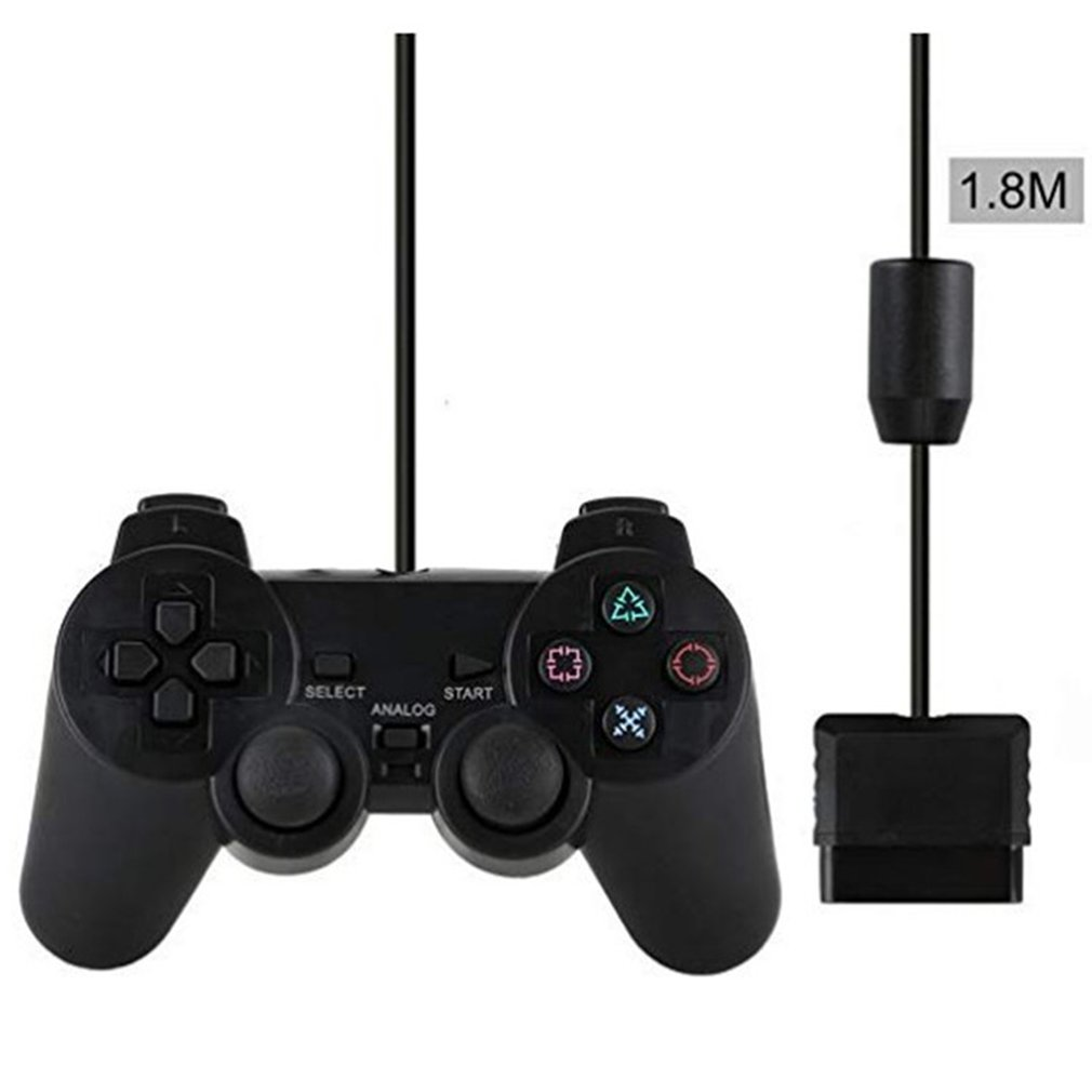 Wired Controller Gamepads For Sony PS2 Playstation2 Dual Shock Console Video Game Joystick Gamepads Long Cable Joypad Dropship