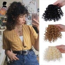 Extensions de perruque Afro frisées et bouclées pour femmes, postiches noires naturelles, en fibres résistantes à la chaleur, synthétiques à Clip