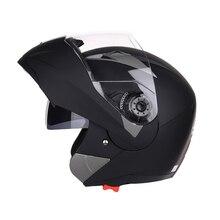Флип-ап анфас мотоциклетный шлем мотоциклетный модульный двойной объектив мотокросса шлем крушение анфас шлемы